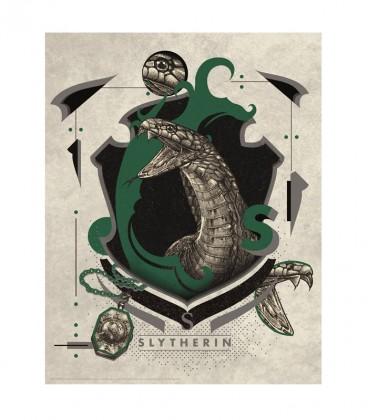 Affiche Lithographie Maison Serpentard Édition limitée