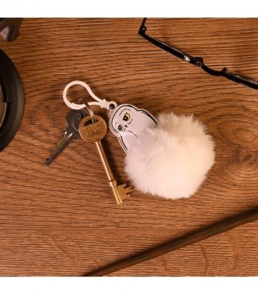 Fluffly Hedwig Keyring