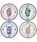 Hogwarts Houses 4 Porcelain Plates Set