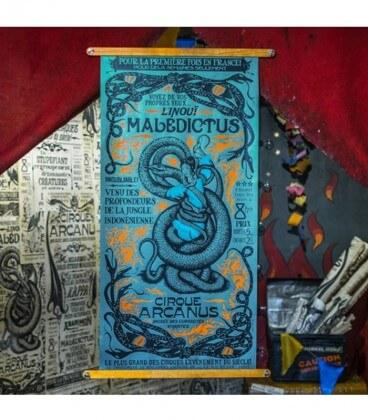 Réplique authentique de l'affiche de Nagini - Les Animaux Fantastiques,  Harry Potter, Boutique Harry Potter, The Wizard's Shop
