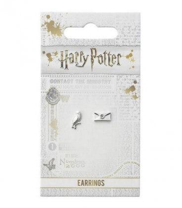 Clous d'Oreilles Hedwige & Lettre d'Acceptation,  Harry Potter, Boutique Harry Potter, The Wizard's Shop
