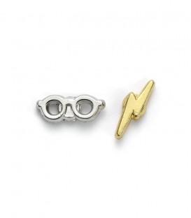 Harry Potter Glasses & Lightning Bolt Scar Stud Earrings