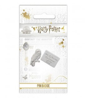 Hedwig and Letter Pin Badge Harry Potter