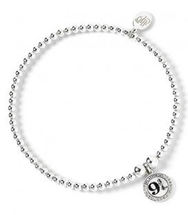 Platform 9 3/4 Bead Bracelet - 925th Silver with Swarovski Crystals - HP