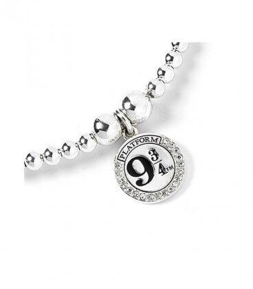 Bracelet à perles Plateforme 9 3/4 Argent 925ème avec Cristaux de Swarovski,  Harry Potter, Boutique Harry Potter, The Wizard...