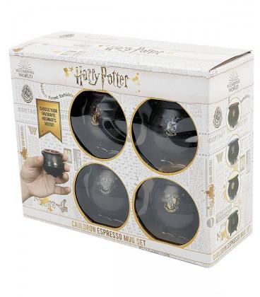 Set de 4 Tasses à café Expresso 4 maisons Harry Potter,  Harry Potter, Boutique Harry Potter, The Wizard's Shop