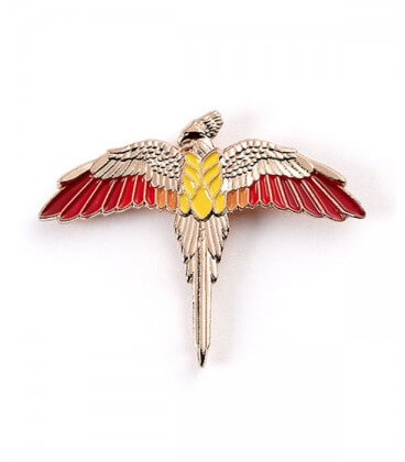 Rose Gold Plated Fawkes Pin - Harry Potter