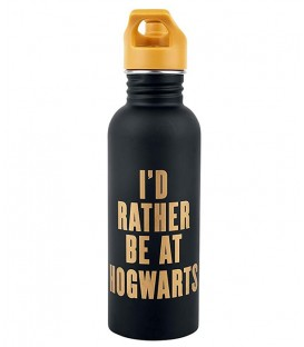 "Gourde métal ""I'd rather be at Hogwarts"",  Harry Potter, Boutique Harry Potter, The Wizard's Shop"
