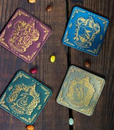 Sous verre Maisons de Poudlard,  Harry Potter, Boutique Harry Potter, The Wizard's Shop