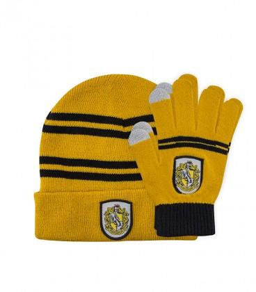Children's Set Touch Gloves & Hat - Hufflepuff