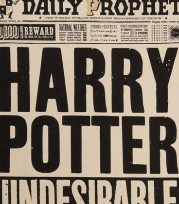 Torchon - The Daily Prophet - Harry Potter Undesirable No.1,  Harry Potter, Boutique Harry Potter, The Wizard's Shop
