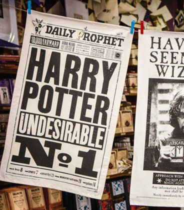 Tea towel - The Daily Prophet - Harry Potter Undesirable No.1