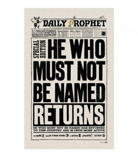 Torchon - The Daily Prophet - He who must not be named returns,  Harry Potter, Boutique Harry Potter, The Wizard's Shop
