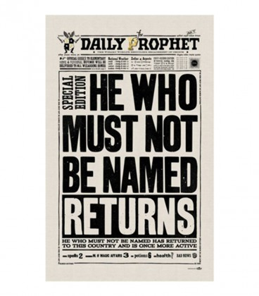Tea Towel - The Daily Prophet - He who must not be named returns
