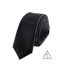 Cravate Deluxe et Pin's des Reliques de la Mort