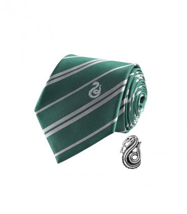 Slytherin Deluxe Tie and Pins