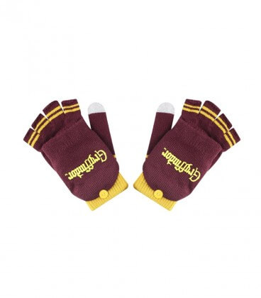 Gryffindor purple and gold mittens
