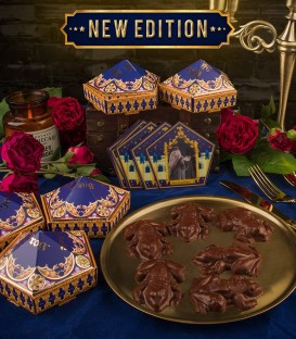 Chocolate frog molds with 6 Chocolate Frog boxes & 6 sorcerer's cards