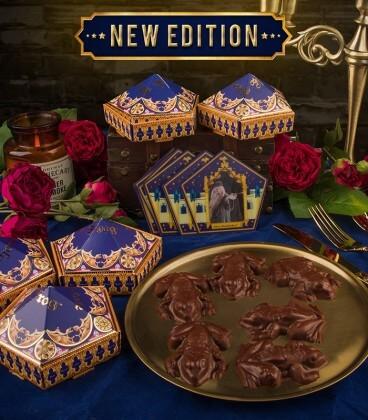 Moules à chocogrenouille avec 6 boîtes Chocogrenouille & 12 cartes des sorciers,  Harry Potter, Boutique Harry Potter, The Wi...