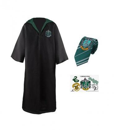 Pack Déguisement Serpentard - Robe Cravate Tatouages,  Harry Potter, Boutique Harry Potter, The Wizard's Shop