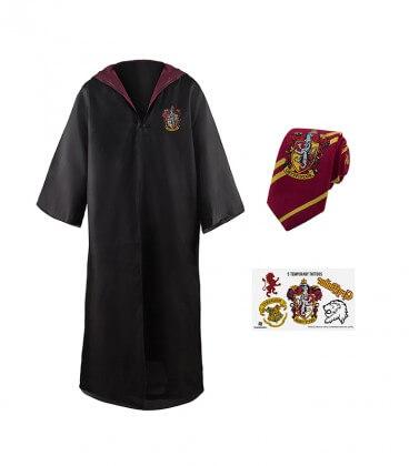 Pack Déguisement Gryffondor - Robe Cravate Tatouages,  Harry Potter, Boutique Harry Potter, The Wizard's Shop