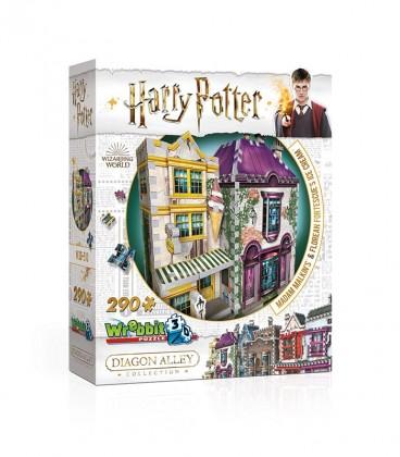 Puzzle 3D - Boutique Madame Guipure et Florean Fortescue,  Harry Potter, Boutique Harry Potter, The Wizard's Shop