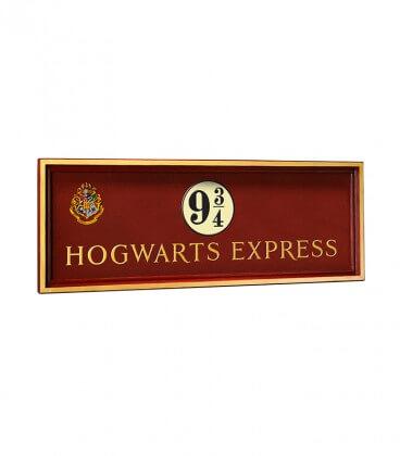 Plaque Poudlard Express Quai 9 3/4,  Harry Potter, Boutique Harry Potter, The Wizard's Shop