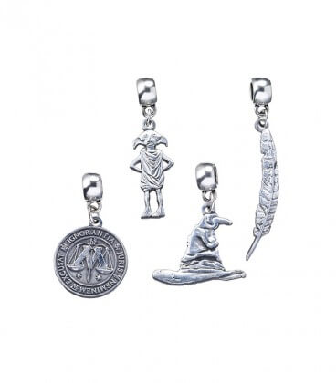 Harry Potter Charms Set : Dobby - Feather - Ministry of Magic - Sorting Hat