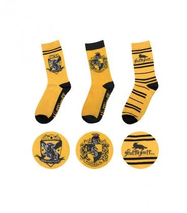 Lot de 3 paires de chaussettes Poufsouffle,  Harry Potter, Boutique Harry Potter, The Wizard's Shop