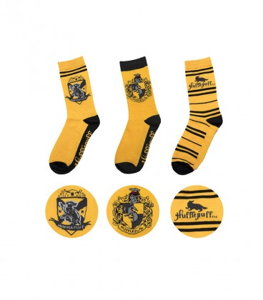 Pack of 3 pairs of Hufflepuff socks