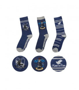 Pack of 3 pairs of Ravenclaw socks