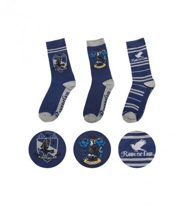 Lot de 3 paires de chaussettes Serdaigle,  Harry Potter, Boutique Harry Potter, The Wizard's Shop