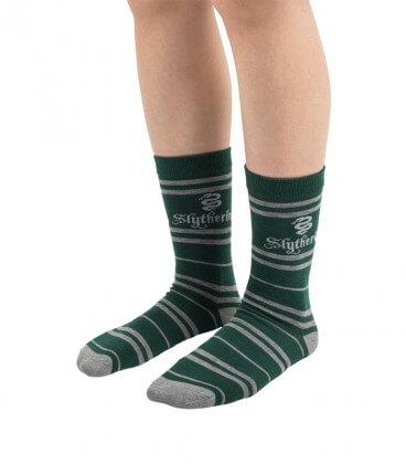 Lot de 3 paires de chaussettes Serpentard,  Harry Potter, Boutique Harry Potter, The Wizard's Shop